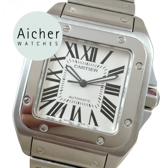 5e326e729a6c3 Like New Cartier Santos 100 XL Automatic Men´s ref. 2656 - Aicher ...