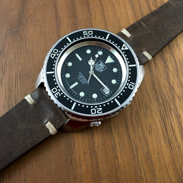 vintage tag heuer diver deep dive 1000m aicher watches
