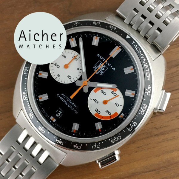 Tag heuer autavia automatic chronograph aicher watches for Tag heuer autavia isograph
