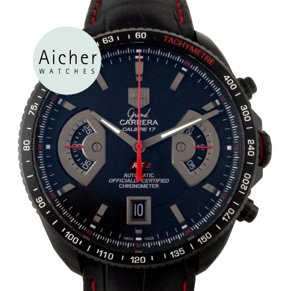 Часы tag heuer grand carrera calibre 17 rs black